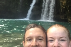 Rob & Kim enjoying Kawasan Falls