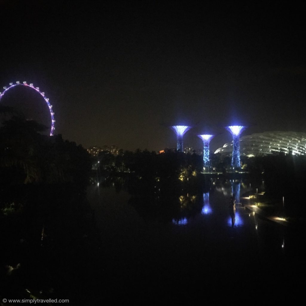 "Where to go in Singapore - Check out the ""supertrees"" at night"