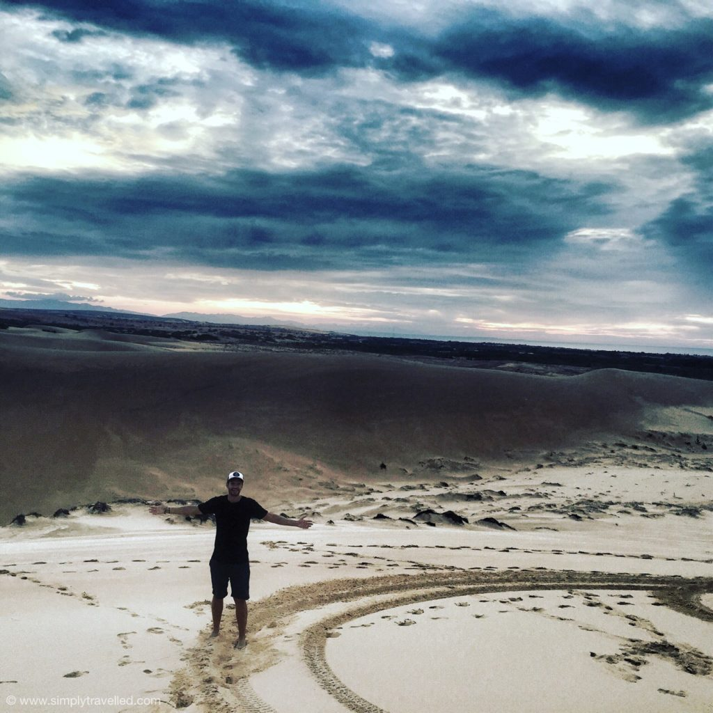 Rob taking it all in at the sand dunes in Mui Ne