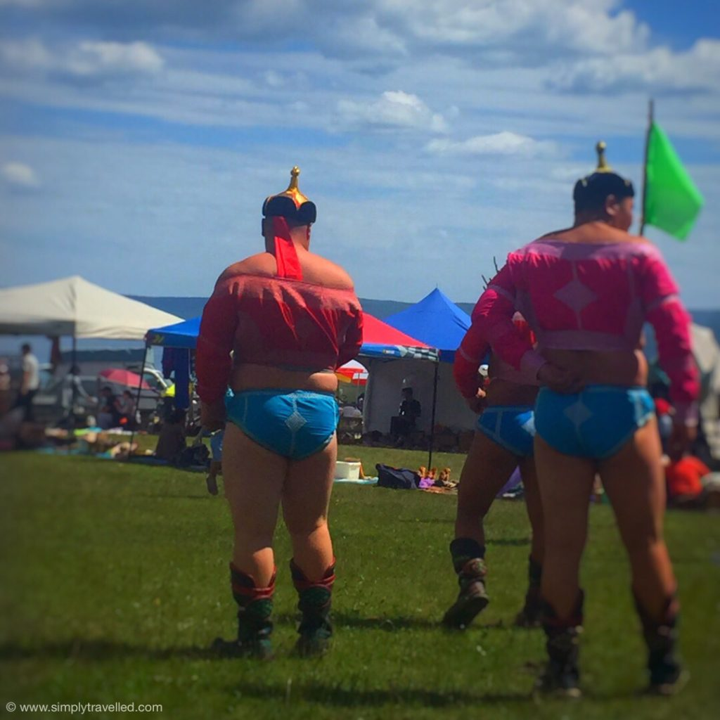 Travel to Mongolia - Wrestlers getting ready to participate in their national festival, Naadam