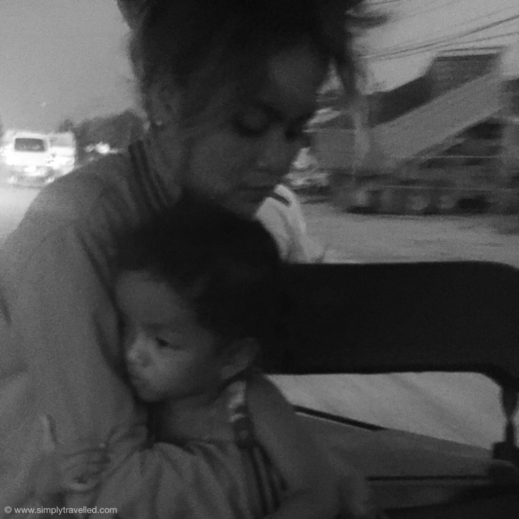 Tuk Tuk Driver - Yaya's wife & toddler