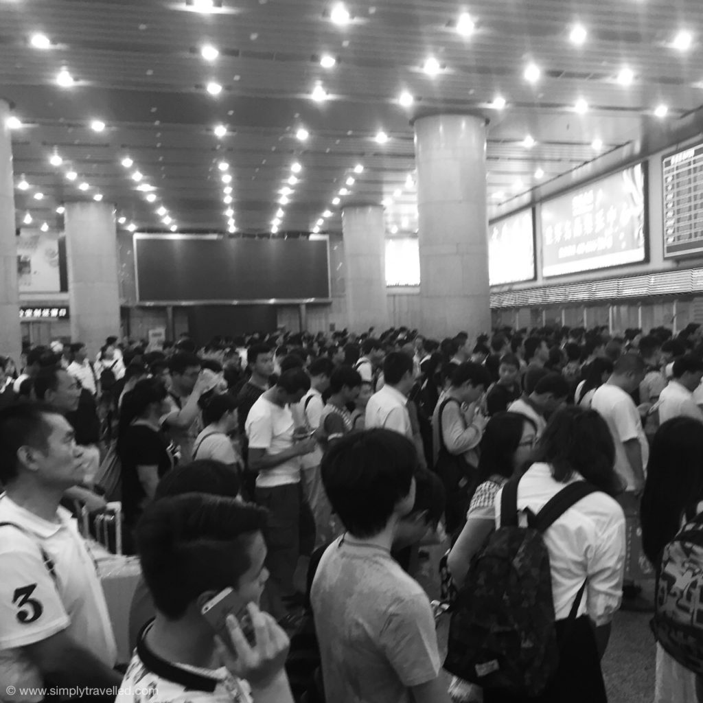 Cool Things About China - Train stations are crazy & packed - be ready for it