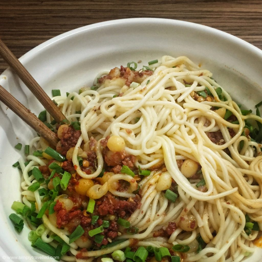 What Not To Eat In China - Fresh spaghetti noodles