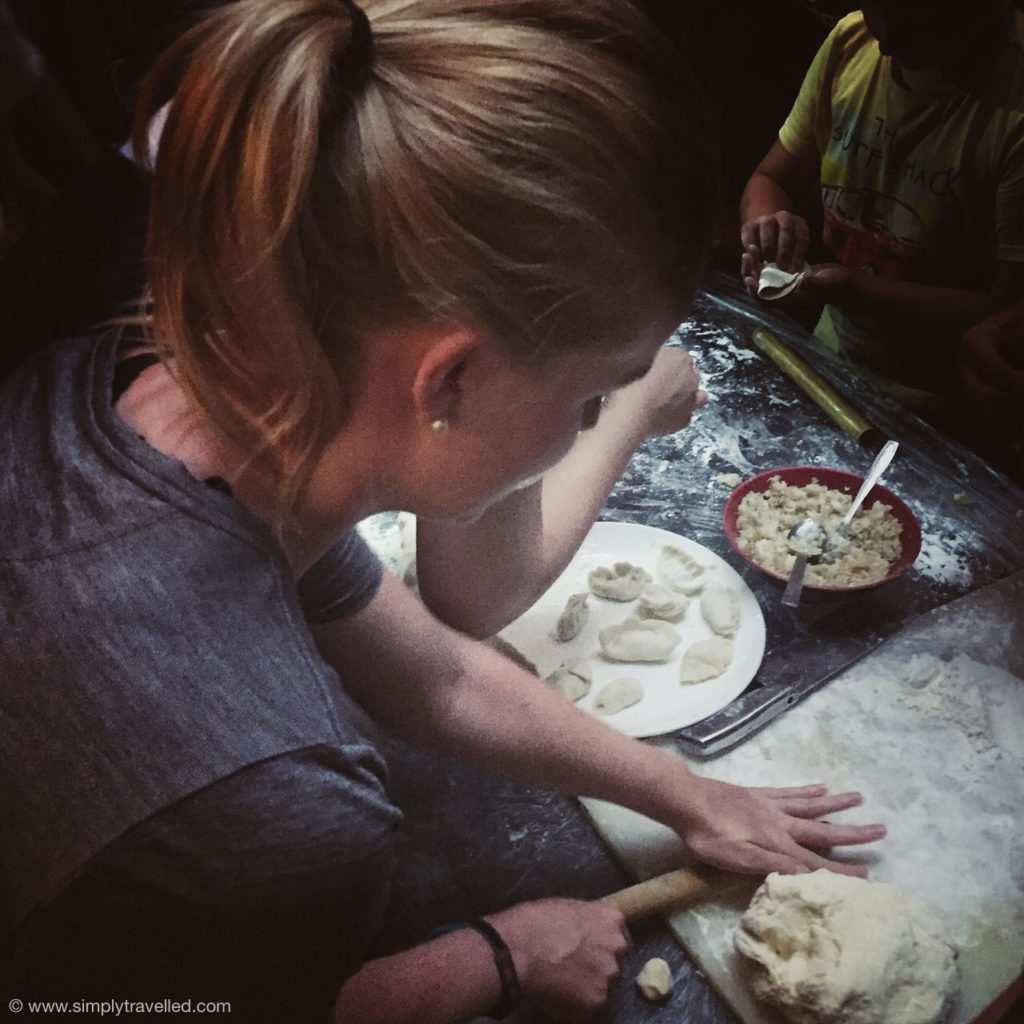 What Not To Eat In China - Kim trying her hand at making dumplings