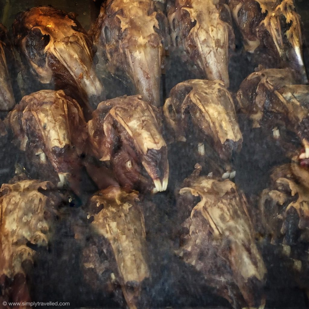 What Not To Eat In China - The rabbit head delicacy