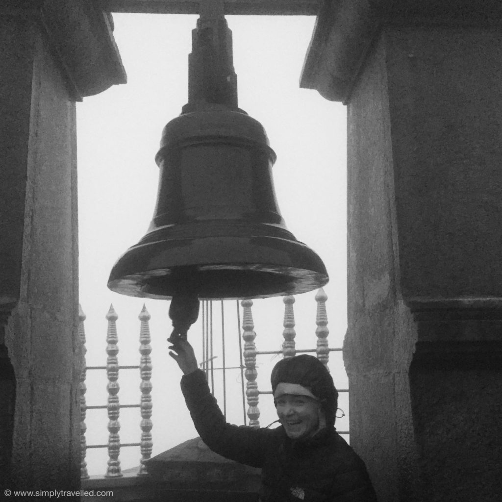 SriLanka tour package - It was freezing but I wasn't leaving until I rang the bell!