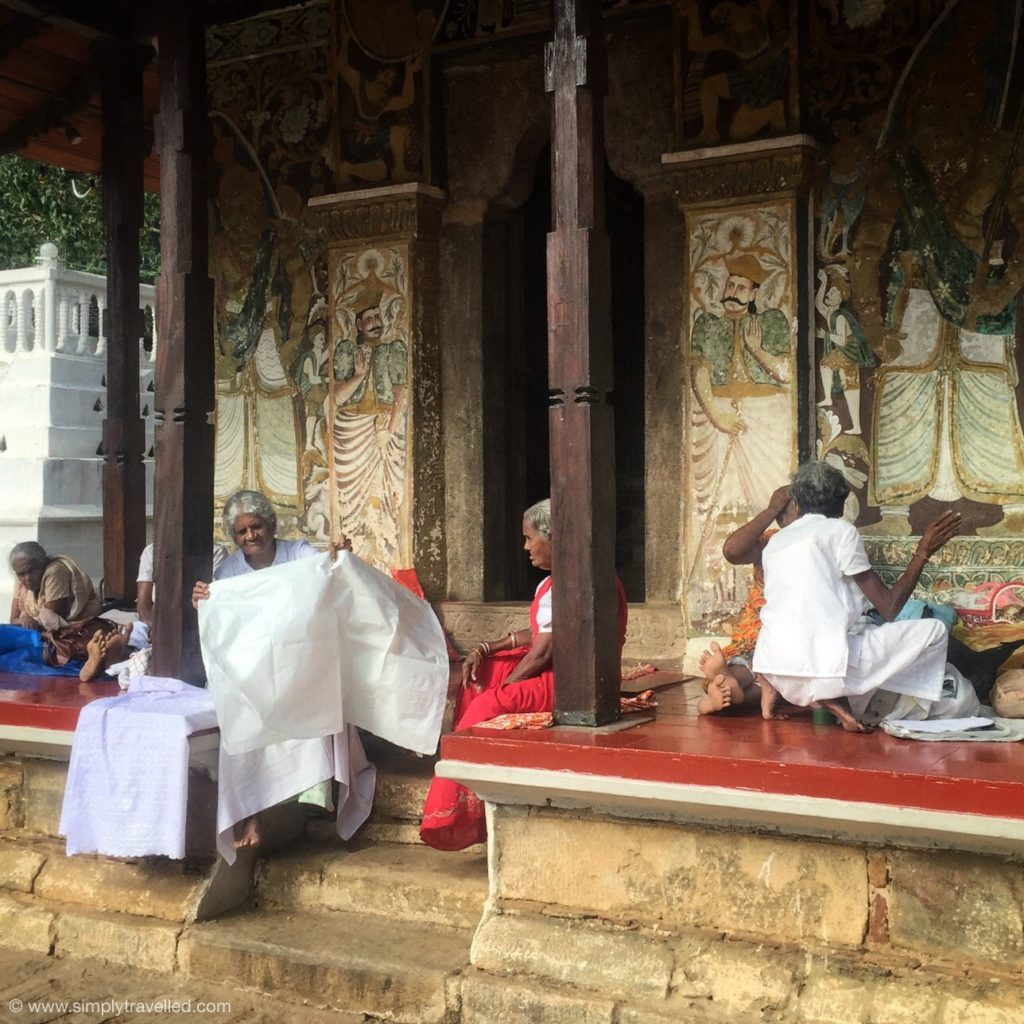 SriLanka tour package - People are always enjoying time at the temple!
