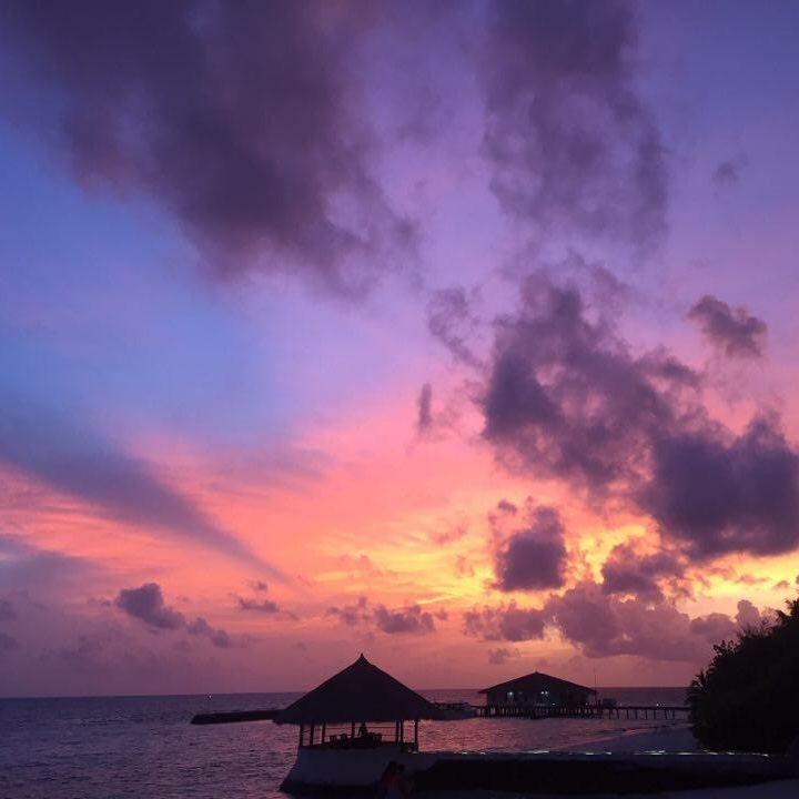 Maldives Beach Resort - A magical sunset!