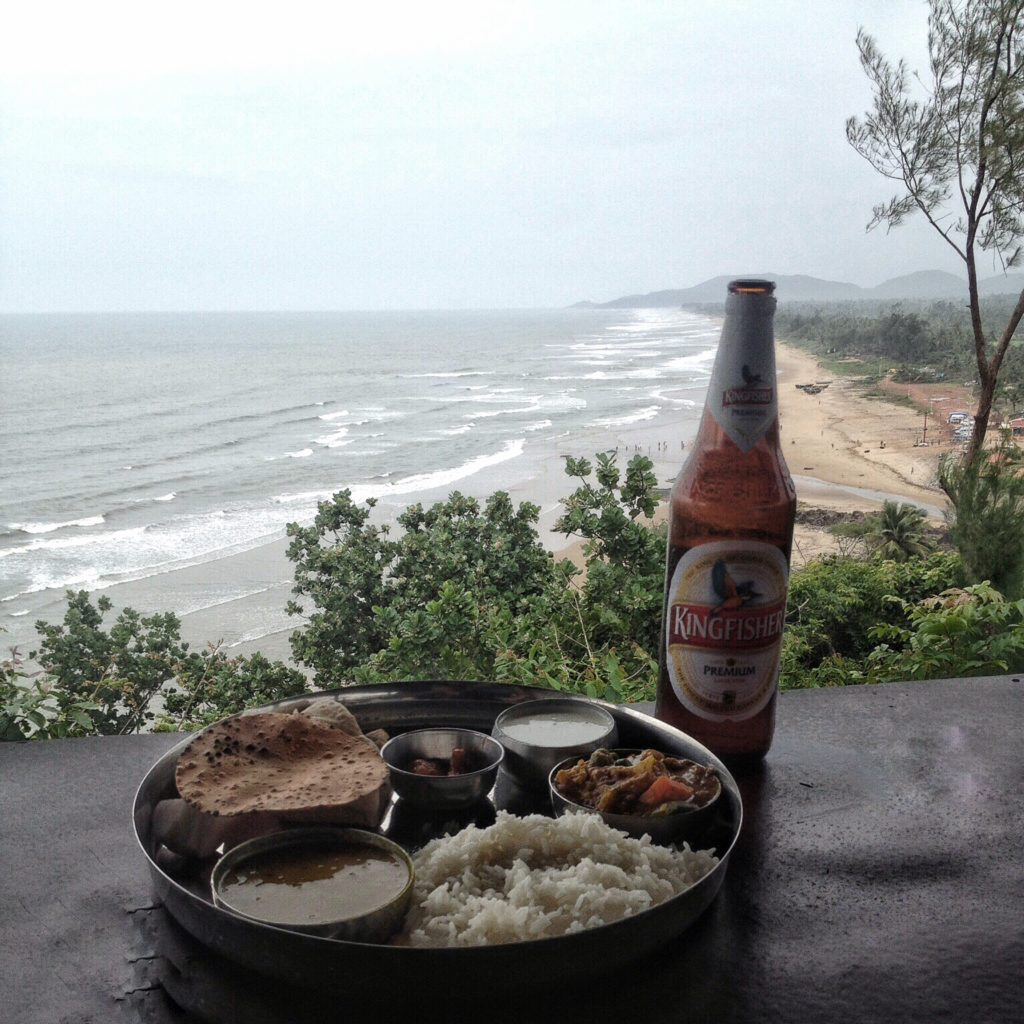 Life in Goa India - Eat whilst taking in the views over the beach