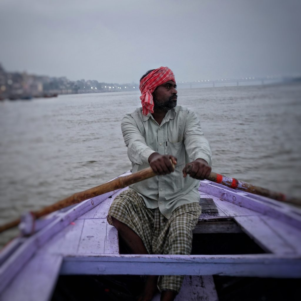 Varanasi attractions - The Ganges is full of action each morning!