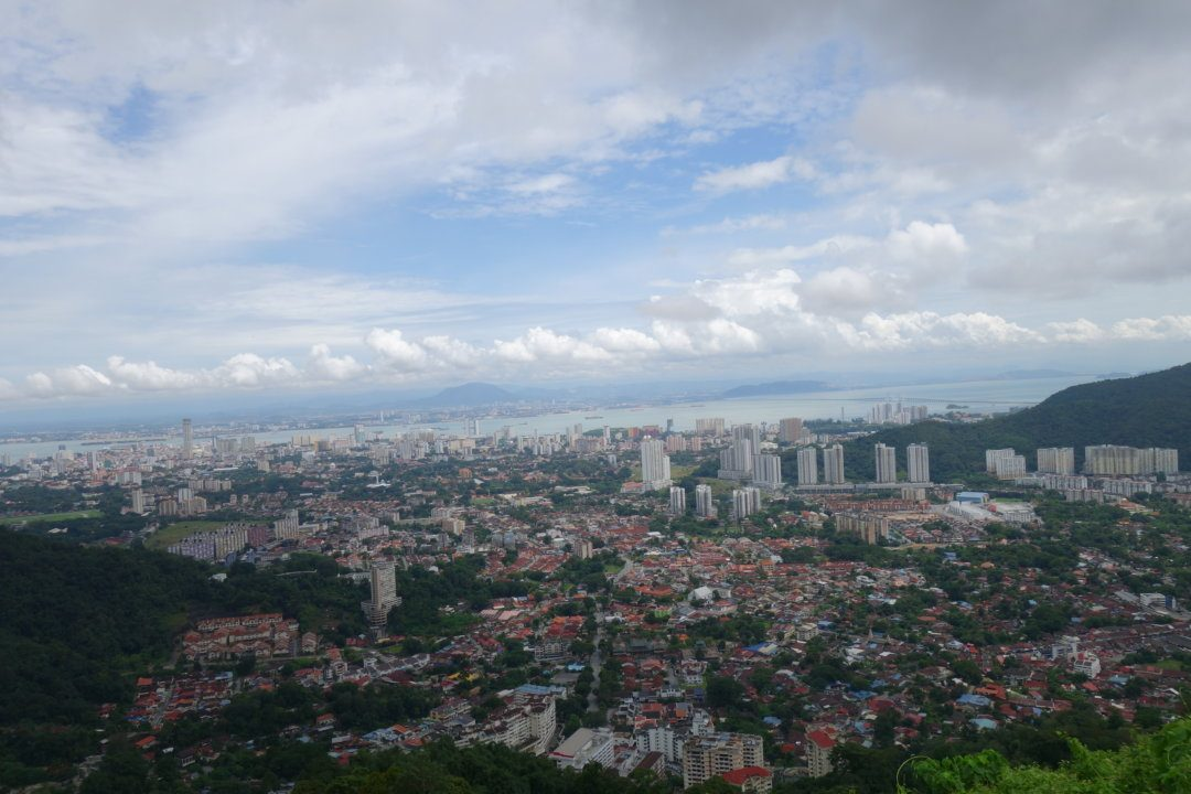 Stunning views over Georgetown - Penang Hill Malaysia