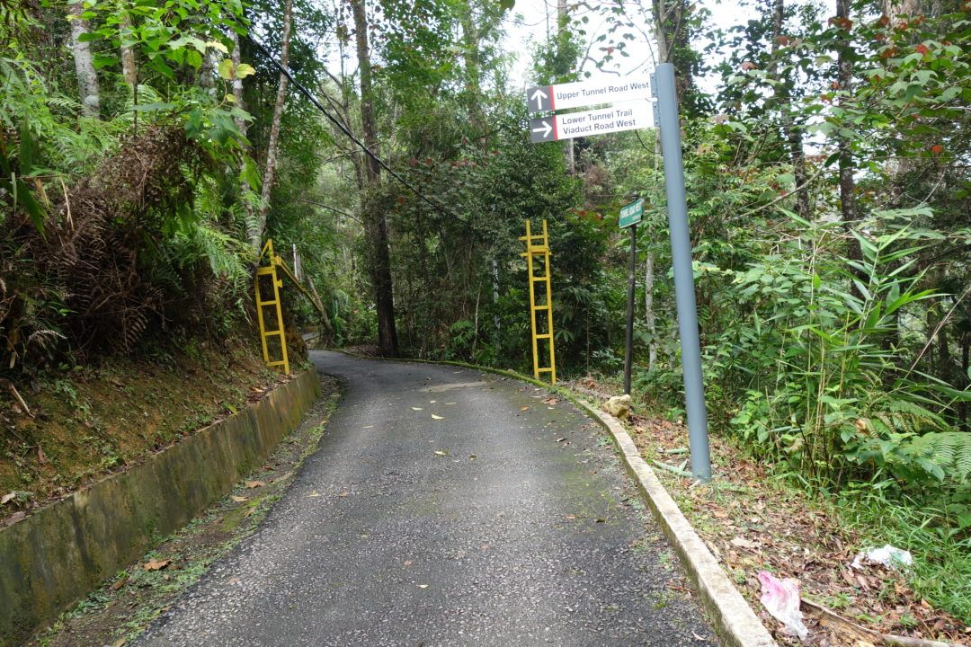 The first signs pointing you in the right direction - Penang Hill Malaysia