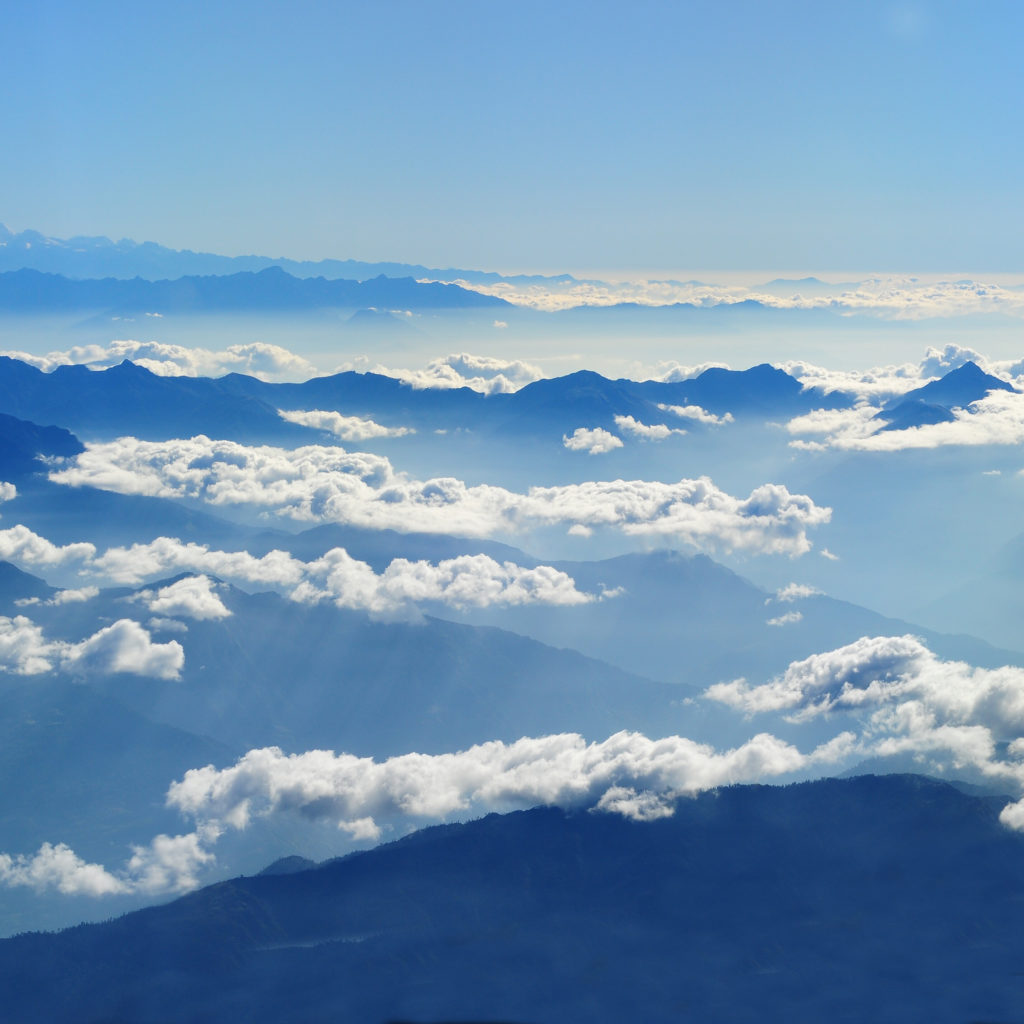 At times in Nepal, you're literally above the clouds! - Nepal travel