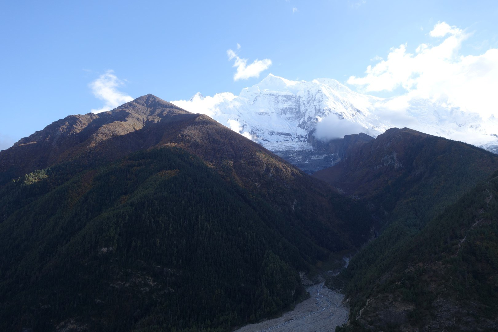 The view from our guesthouse - Annapurna Circuit route