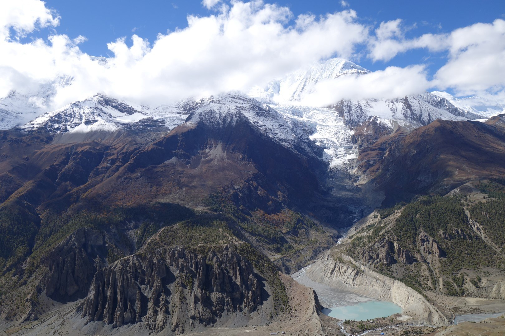 View from Praken Gompa - Annapurna Circuit Route
