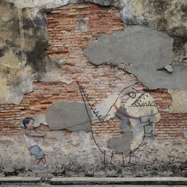 Happy dinosaur! - Penang Art Street