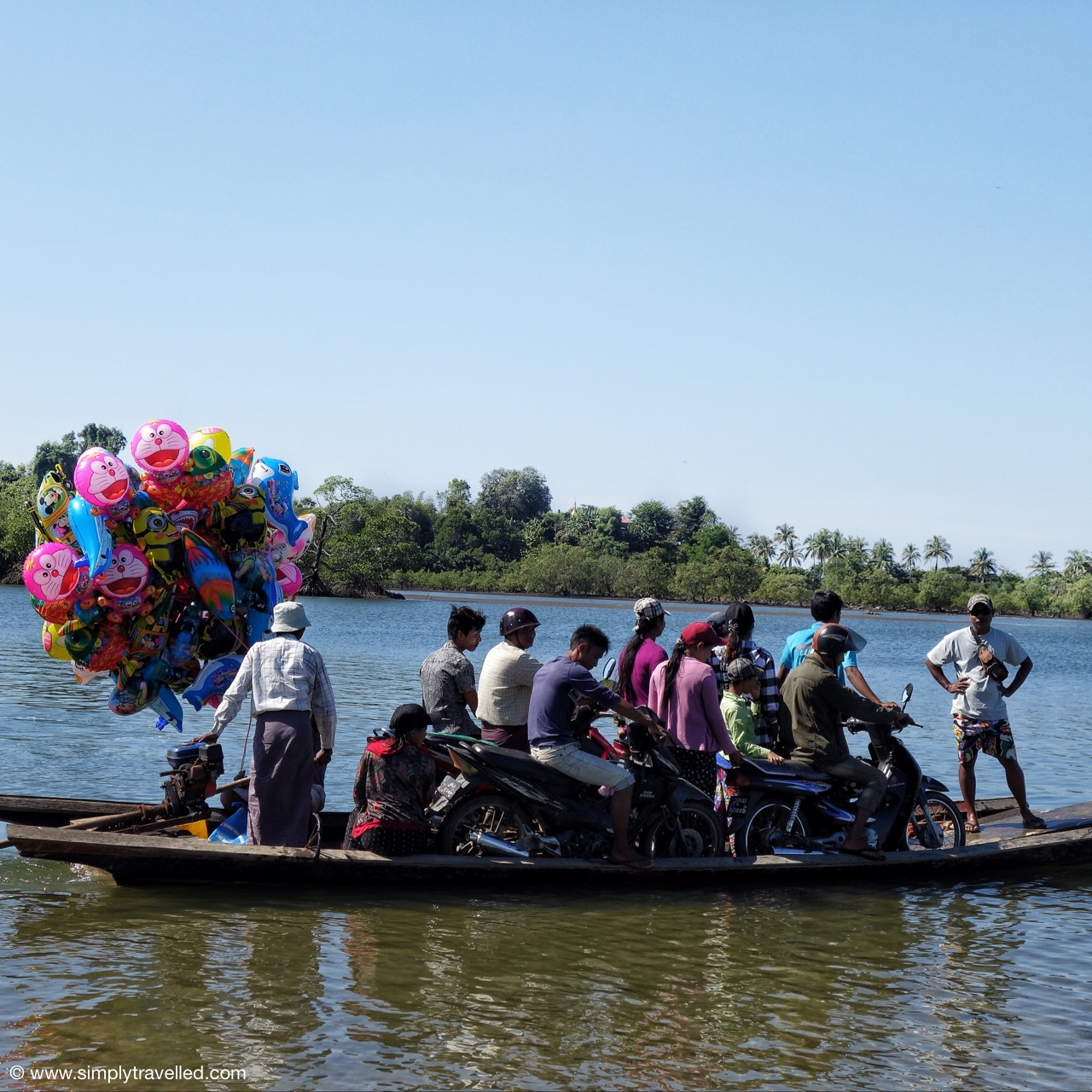 Don't worry, the balloons will keep you afloat! - ngwe saung beach